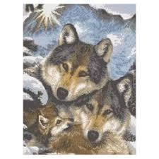 «Наборы для <b>вышивания</b> Волки» — Канва для <b>вышивания</b> ...