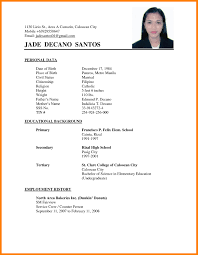Sample Simple Resume Unique For Your 5 In Philippines Of Easy