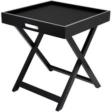 Tray Table Urban Shop Side Table With Removable Tray Multiple Colors