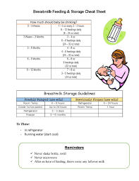 Breast Milk Feeding Chart Breastmilk Bottle Feeding Storage Guidelines Bottle