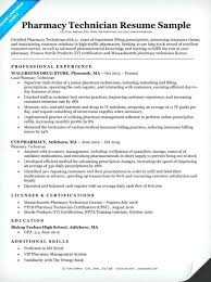 Pharmacy Tech Resume Template Extraordinary Pharmacy Tech Resume Sample Hospital Technician Template