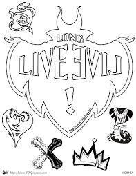 Small Picture Descendants coloring Page Long Live Evil Disney Channel Movie