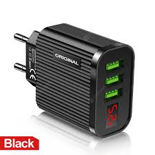 5V/3.1A Fast Charging Head 3 <b>USB</b> Ports Charger Adapter with LED ...
