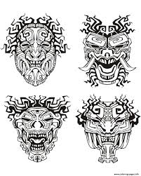 Small Picture Adult Mask Inspiration Inca Mayan Aztec Coloring Pages Printable