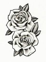 Image Result For Three Black And Grey Roses Drawing Tattoo Black