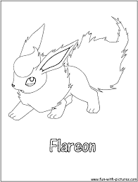 Small Picture Pokemon Coloring Pages Flareon Flareon Pokemon Coloring Page