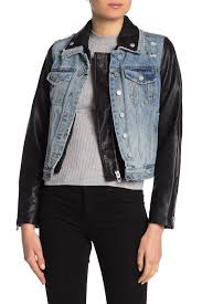 blanknyc denimdenim faux leather moto jean jacket