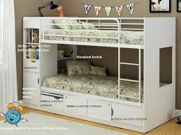 white storage bunk bed