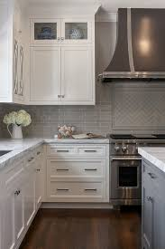 Kitchen Backsplash For White Kitchen Cabinets In Conjunction With