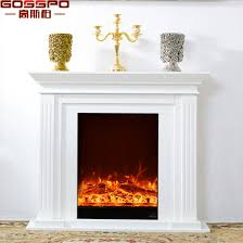 french antique luxury white solid oak wood fireplace mantel gsp14 005