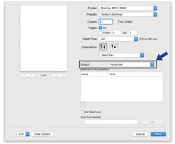 How To Fax From Mac Send Faxes From Your Application Mac Brother