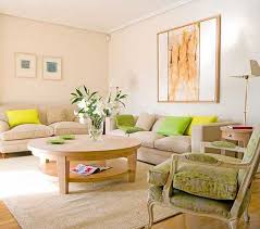 spring decorating with yellow and green color shades