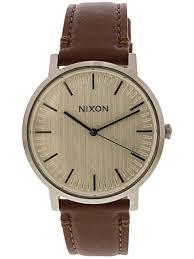 nixon men s porter leather fashion watch