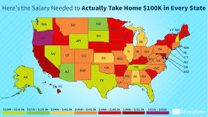 Florida Salary Calculator After Taxes This Is The Ideal Salary You Need To Take Home 100k In Your State