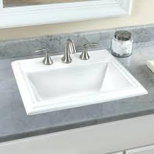 overmount bathroom sinks town square 1 8 drop in bathroom sink for widespread faucet kohler overmount