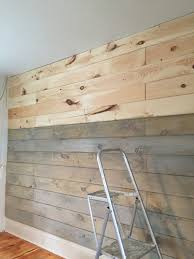 Plywood Plank Ceiling Staining A Plank Wall With Milk Paint For The Home Pinterest