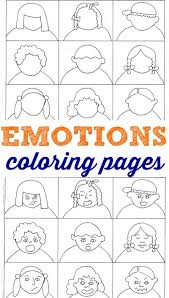 Small Picture Emotions coloring pages for kids to help them learn about feelings