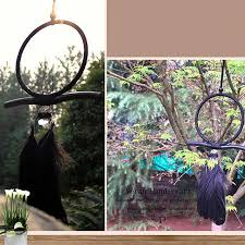 Dream Catcher With Crystals Black Dream Catcher Feathers Crystal Native American Indian 37