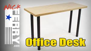 diy office table. » DIY Office Desk W/ Baltic Birch Top (ep72) Diy Table S