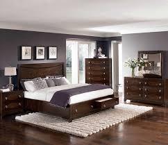 Bedroom Modern Contemporary Bedroom Design Using Brown Wooden Bed ...