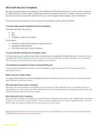 Resume Templates For Word 2010 New Template For Resume Word New Word