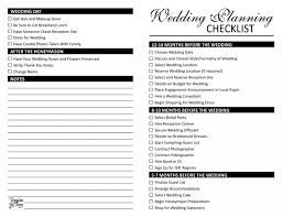 Blank Wedding Planning Checklist Printable Checklist For A Wedding Download Them Or Print