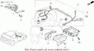 honda civic 1995 s 3dr cx ka srs unit schematic partsfiche srs unit schematic