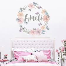 personalized name wall decal rustic nursery decal girls name wall inspirations of wall decals girls room