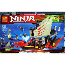Xếp hình Lego Ninjago LELE 79131 Masters of Spinjitzu Thuyền đầu rồng 718  mảnh-đồ chơi lắp ráp lego cho bé chính hãng 790,000đ