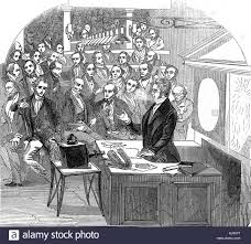 electric motor michael faraday. Michael Faraday Lecturing On Electricity And Magnetism Royal Institution London 1846 Electric Motor