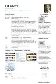 Director Of Photography Resume Samples - Visualcv Resume Samples ...
