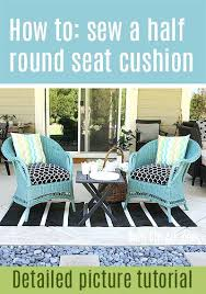 patio chair cushion covers how to sew a half round seat cushion cover for my outdoor patio chair cushion covers