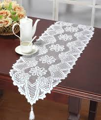... Large-size of Gallant Christams Lace Table Runner Decorative For Tea  Cup Wedding Decoration Crochet ...