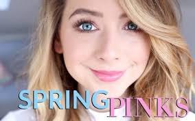 spring pinks makeup look