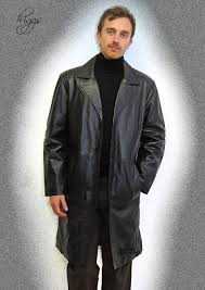 brooker 7 8th length black leather jackets for
