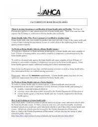 Home Aide Sample Resume Sample Resume Of Health Care Aide Yun24 Co Templates Home Health 11