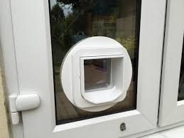 microchip cat flap fitted in pvc french doors