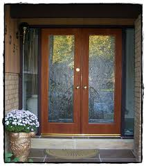 custom stile and rail residential wood full lite front doors with custom glass manufactured by house