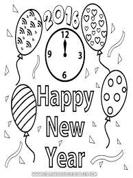 Small Picture Print Out Happy New Year Coloring Page For Kids Archives Within
