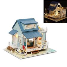 cuteroom a 037 a caribbean diy dollhouse miniature kit with light motor