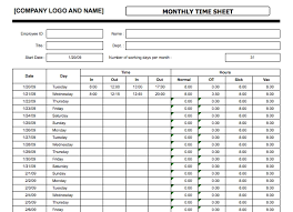 time sheet template excel monthly timesheet template cortezcolorado net