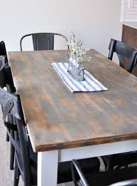 distressed farmhouse dining room table