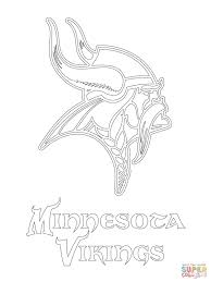 simple nfl coloring pages to print minnesota vikings logo page free printable