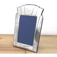 art deco style pewter photo frame