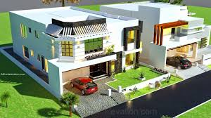 3d modern house design plans 3d front elevation 1 kanal house