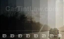 Window Tint Darkness Chart Vlt Examples Car Tint Law