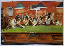 dogs playing pool get unique hand painted cassius marcellus coolidge oil painting reions at low s