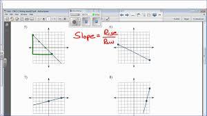 find the slope of each line worksheet