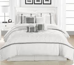 chic home bedding vermont whitesilver  piece comforter set bed