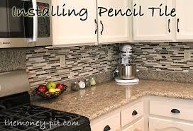 plain marvelous installing glass tile backsplash how to install a pencil tile backsplash and what it
